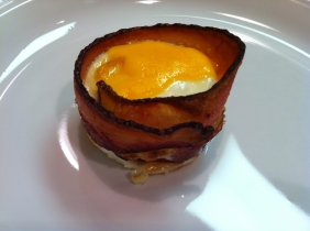 Bacon Wrapped Egg with Cheese